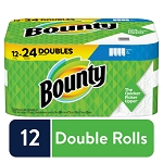 Bounty Select-A-Size Kitchen Rolls Paper Towel, 2-Ply, White, 83 Sheets/Roll, 12 ROLLS