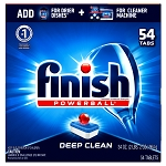 Finish Powerball Dishwasher Tabs, Deep Clean, 54 per Box - 4 Boxes per case