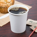 8 oz - White Poly Paper Hot Cup - 1000/cs