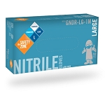 Nitrile, Powdered Blue, 100/box