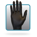 Gloves - Nitrile Large -  Black 3.3