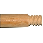 Hardwood Handle, Threaded Tip, Lacquered – 7/8' DIA. 4' LONG