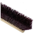 MAROON CRIMPED POLY GARAGE BRUSH - WOOD BLOCK - 24''