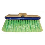 Vehicle Window Wash Brushes with Staple-less Bumpers – Green 10''