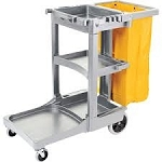 Standard Janitor Cart Gray