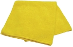 Microfiber Towel 16'' x 16'' Yellow, 12 per pack
