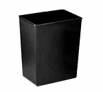 Continental Wastebasket 14 qt Rectangle Fire Resistant Black