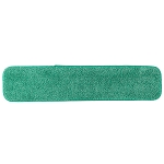 Microfiber Wet Mop Pad 24 in. Green