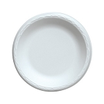 9 in. - Non-Laminated Foam Plates, White - 500/cs