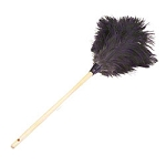 Lambskin Feather Duster Premium Grey Ostrich - 28