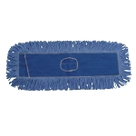 Unisan 1118 Mop Head, Dust, Looped-end, Cotton/synthetic Fibers, 18 X 5, Blue