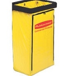 Rubbermaid Vinyl Replacement Bag for Janitor Cart w Zipper For 6173