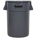 Continental Huskee™ Trash Can 44 gal Round Gray