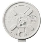 Dart Lift n'Lock Lids for 10-14 oz. Cups, Translucent, 1000 Lids/Carton (DCC12FTLS)