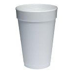 16 oz - Dart Foam Drink Cups Item - White, 25/Bag, 40 Bags/Carton