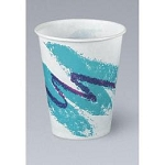 Solo Cup Company Jazz Waxed Paper Cold Cups, 16 oz., Tide Design 1000/case