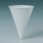 Solo Rolled Rim Treated Paper Water Cone Cup 4 oz